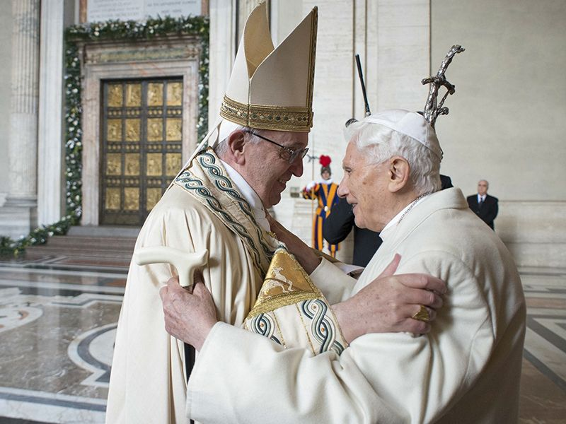was pope benedict forced to resign where peter is