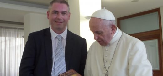Walford with the pope